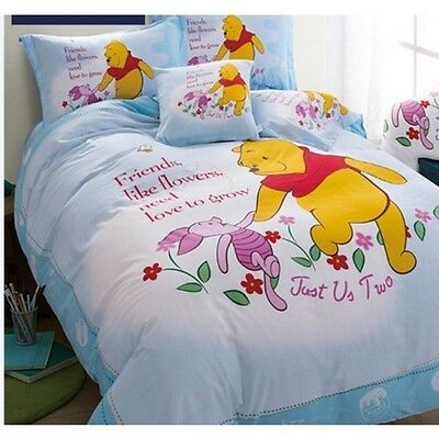 Winnie the Pooh Queen Size Duvet Cover Bedding Set Piglet