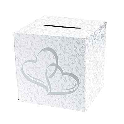 Wedding Card Money Gift Box Two Hearts Reception Wishing Well Decoration Shower