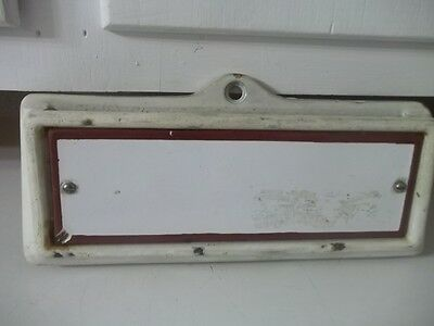Vintage Antique Porcelain Sign Cast Metal Door Mail Slot Estate Find 8 1/2""