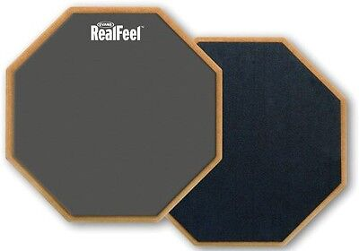RealFeel RF6D Double Sided Drum Practice Pad, 6-inch, Realistic Feel