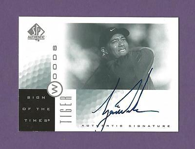 2001 Sp Authentic Tiger Woods Auto Autograph Rookie RC Sign of the Times TW PGA