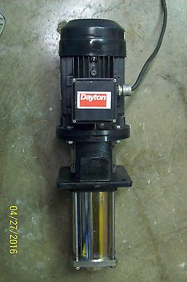 Dayton Centrifugal Coolant Pump 8 Stage 2 Hp 3 Phase Type 1Xln1