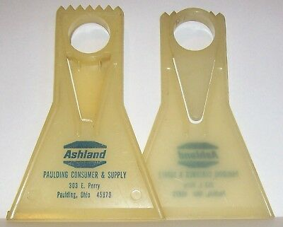1960's PAULDING SUPPLY OHIO ASHLAND OIL ADVERTISING AUTO WINDOW ICE SCRAPER (2)