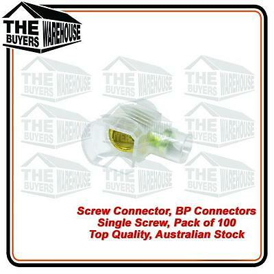 BP SINGLE SCREW CONNECTORS JAR of 100 2MM x 6MM 240V ELECTRICAL WIRE JOINERS