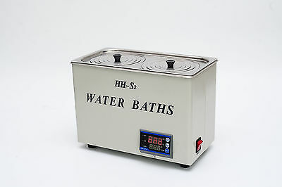 4.8L Digital Lab Thermostatic Water Bath Two Hole Electric Heating New