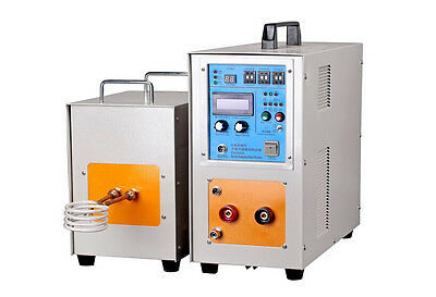 15KW 30-80KHz Dual Station High Frequency Induction Heater Furnace LH-15AB New