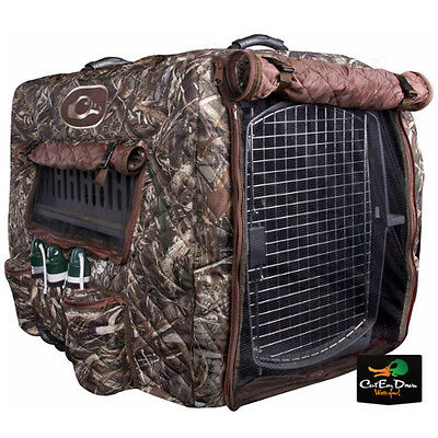 Drake Waterfowl Deluxe Adjustable Insulated Dog Kennel Cover Max-5 Camo
