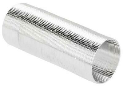 70 COILS 22mm x 0.6mm RING MEMORY WIRE SILVER  PLATED