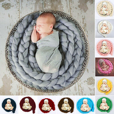 4M Wool Twist Rope Photo Props Backdrop Baby Photography Prop For Newborn Baby