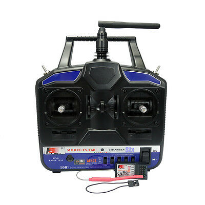 FlySky FS-T6B FS T6B 6CH Transmitter Receiver Radio control for Drone Helicopter