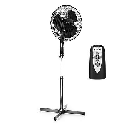 Standing Pedestal Air Fan 3 Speed Sleep Timer Remote Control Rotor *free P&p*