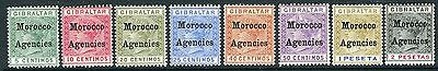 MOROCCO AGENCIES-1898-1900 A fine used set to 2p Sg 1-8