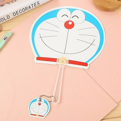 Cute Japan Cartoon Doraemon Smile Face Hand Fans Cosplay Prop Collection 1pcs