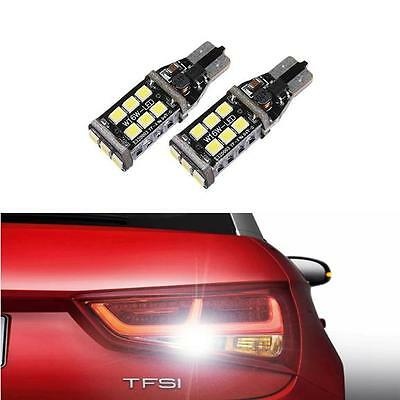 2 x T15 W16W 921 15 SMD 3535 CANBUS ERROR FREE WHITE REVERSE BULBS