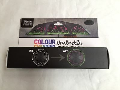 New Droplets Colour Changing Umbrella Changes When Wet Flower Pattern