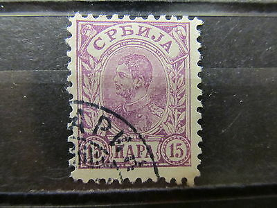 A2P7 SERBIA 1898-1900 ORDINARY PAPER 15p USED