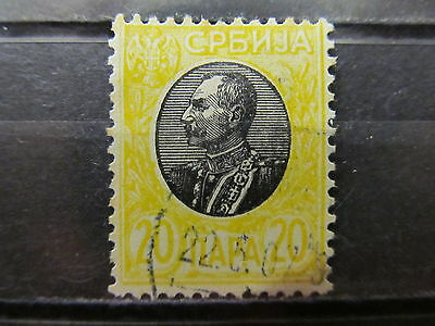 A2P7 SERBIA 1905 WOVE PAPER 20p USED