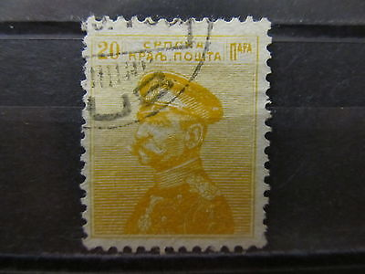 A2P7 SERBIA 1911-14 20p YELLOW USED