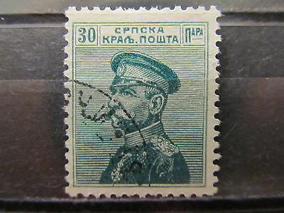 A2P7 SERBIA 1911-14 30p BLUE GREEN USED