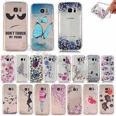 Ultra-thin Soft TPU Silicone Pattern Back Case Cover For Samsung Galaxy Phone