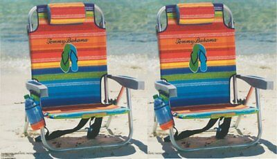 2 Tommy Bahama Backpack Cooler Beach Chairs Floral New | NO SALES TAX