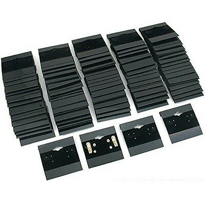 Black Earring Display Cards Jewelry Holder Flocked 2 x 2 inch 100 Cards