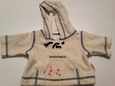 Cabbage Patch Kids Doll Clothes Cpk Hoodie Sweater White Top