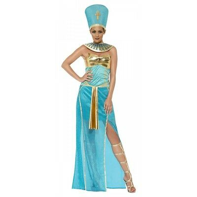 Nefertiti Costume Adult Egyptian Queen Halloween Fancy Dress