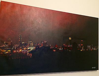 Birmingham Large Oil painting on canvas,100%  hand painted, Large