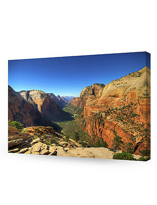 Angel's Landing at Zion National Park, Utah. Giclee Canvas Prints for Wall Decor