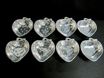 8 Antique Metal Dessert Plates Bowls Strawberry R.H. Macy Macy's India - Pewter?