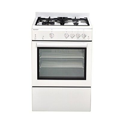 Euromaid GEGFW60 60cm White Gas Freestanding Oven, Fan Assisted