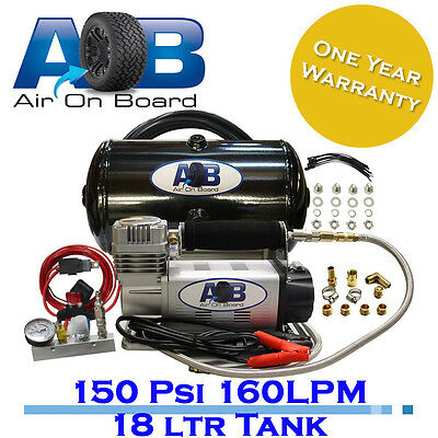 948 Air compressor 150psi 18L air Tank AOB kit 12V portable tyre/tire inflator