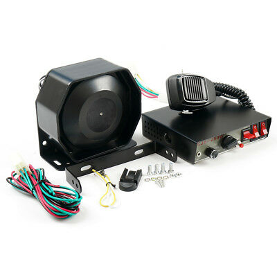 200W 8 Sound Loud Car Warning Alarm Police Fire Siren Horn PA Speaker MIC System