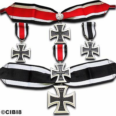 FULL ELITE GERMAN IRON CROSS MILITARY MEDAL COLLECTION 5x AWARDS WW1 WW2 REPRO