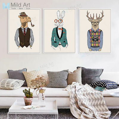 Modern Hippie Animal Vintage Poster Prints Canvas Painting Home Wall Art Decor