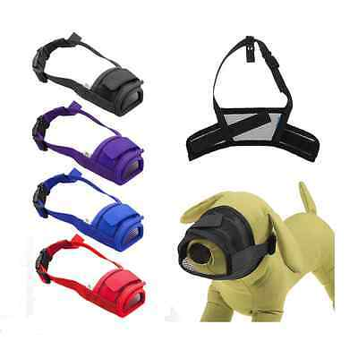Dog Pet Safety Adjustable Breathable Muzzle Stop Biting Barking Nipping Chew US