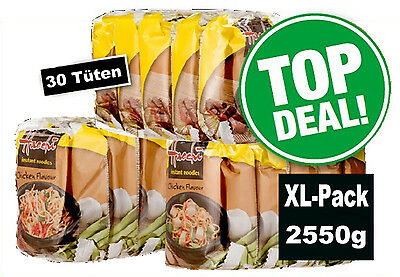 30x Haochi Instant Nudelsuppe Huhn á 85g=2550g Chicken Noodle Soup  MHD: 03/18