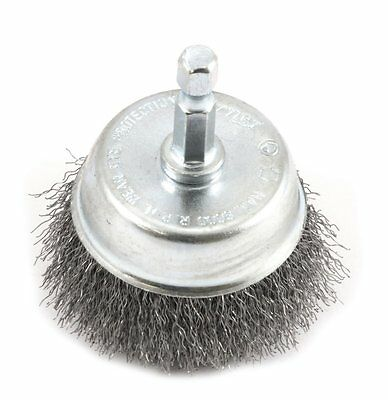 Forney 72730 Wire Cup Brush, Fine Crimped with 1/4-Inch Hex Shank, hex shank AOI