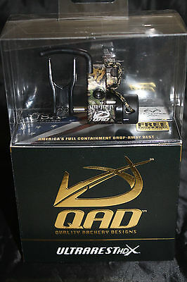 QAD Ultra Rest HDX RealTree Camo Drop Away Arrow Rest Right Hand Free Knife DVD