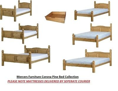 Mercers Furniture® Corona Pine Bed Frames 3' single 4'6 double 5' king Mattress