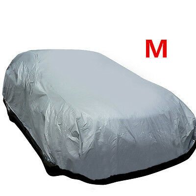 Medium Size Full Car Cover UV Protection Waterproof Outdoor Indoor Breathable Ar