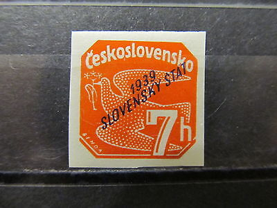 A2P7 SLOVAKIA NEWSPAPER STAMP 1939 7h MH*