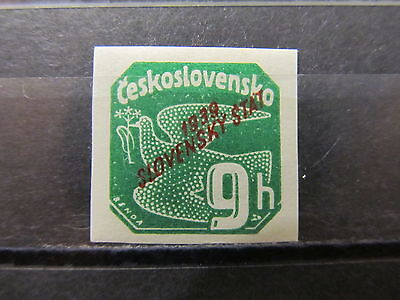 A2P7 SLOVAKIA NEWSPAPER STAMP 1939 9h MH*