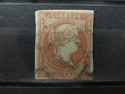A2P8 SPAIN 1856 UNWMK 4c USED