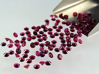 Red Ruby Round Brilliant Cut 1.00mm-2.75mm Loose Stones HIGH QUALITY Gemstones