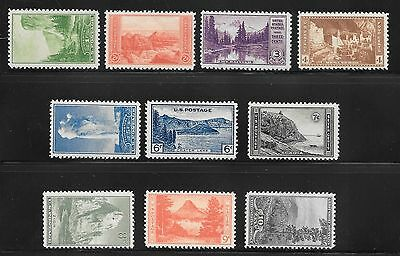 1934 National Parks Issue Set 740 - 749 FVF 80 Years Old! Mint NH  *MM-740NH