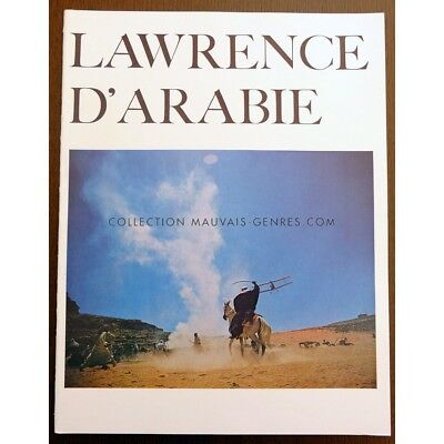 LAWRENCE D'ARABIE Programme du film 24x31 FR '62 Peter O'Toole, Omar Sharif