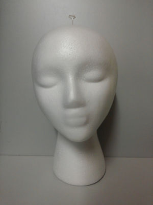 **free T-Pin** Foam Head Female Styrofoam Mannequin With Wig Hat Display Holder