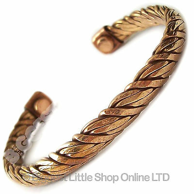 Magnetic Unisex Twisted Rope Copper Bracelet Therapy New Cuff Bangle Magnets